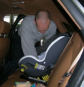 Installing a child's car seat